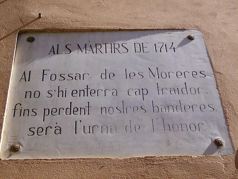 Placa del Fossar de les Moreres