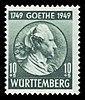 Fr. Zone Württemberg 1949 44 Johann Wolfgang von Goethe.jpg