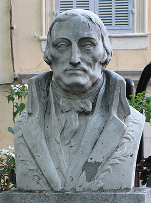 François Just Marie Raynouard - monument by the sculptor Victor Nicolas