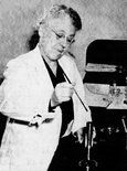 McGill in her laboratory, 1942