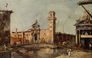 The Entrance to the Arsenal in Venice