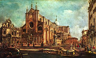 Campo of Santi Giovanni et Paolo, with the Scuola di San Marco in Venice