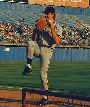Frank Tanana - Tanana warms up at Arlington Stadium, 1992
