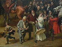 Heinrich Blume und Karoline Bauer, Detail des Gemäldes Parade auf dem Opernplatz von Franz Krüger, Berlin 1829 (Quelle: Wikimedia)