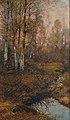 Franz Schreyer - Waldlichtung mit Birken im Morgenrot.jpg