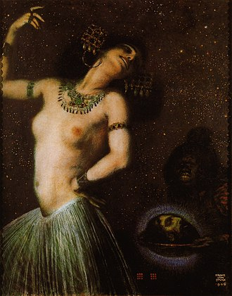 Femme fatale - Salome in a painting by Franz von Stuck