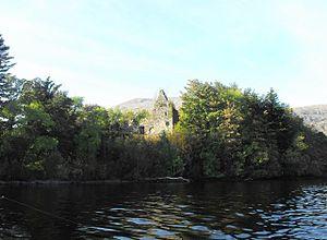 Clan Macnaghten - Fraoch Eilean Castle, held by the MacNaughtons from 1297