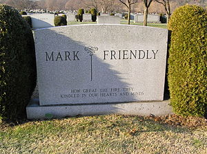 Fred W. Friendly - The headstone of Fred Friendly