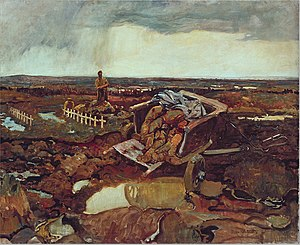 Frederick Varley - The painting For What? completed by Varley while an official war artist