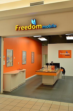 Freedom Mobile - A Freedom Mobile store at Markham Place shopping centre