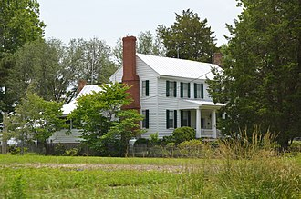 National Register of Historic Places listings in Gates County, North Carolina - Image: Freeman House on NC VA state line
