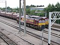 Freight trains at St Andrews Road station - geograph.org.uk - 190809.jpg