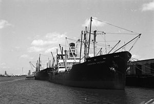 Freighter at Lake Charles Louisiana 1972.jpg