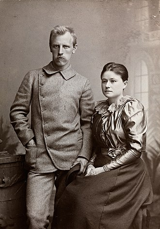 Fridtjof Nansen - Fridtjof Nansen and Eva Nansen in autumn 1889