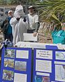 Friends Of St Joseph Bay Preserves With Endangered Whooping Crane Costume On St Vincent During Open House By Teresa Darragh.jpg