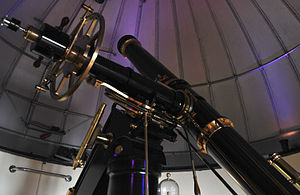 T. Cooke & Sons - The Fry 8-inch-aperture refracting telescope, manufactured by Thomas Cooke in the 1860s, at the University of London Observatory.