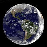 Full Disk Image of Earth Captured March 2, 2011 (5491105249).jpg