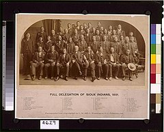 Full delegation of Sioux Indians, 1891 - photographed and copyrighted by C.M. Bell, Washington, D.C., February, 1891. LCCN96514611.jpg