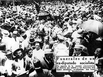 Luis Emilio Recabarren - Funerals of Luis Emilio Recabarren (1924)
