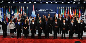 2011 G20 Cannes summit - Leaders of the G20 countries present at the Cannes summit.