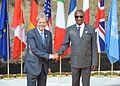 G7 Taormina Paolo Gentiloni Alpha Condé handshake 2017-05-27.jpg