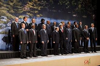 Abdelaziz Bouteflika - Abdelaziz Bouteflika in the G8 family photo, 2010