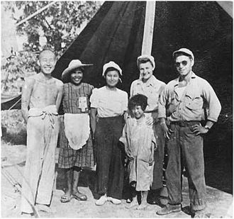 Guy Gabaldon - Private Guy Gabaldon (right) poses with a few of the Japanese soldiers and civilians who surrendered to him in 1944 during World War II