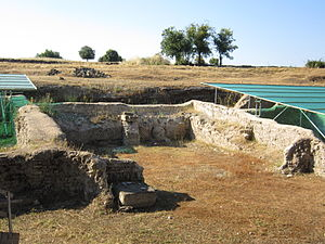 Gabii - Ruins in the residential quarter of Gabii