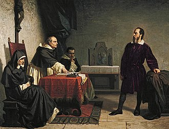 Galileo Galilei - Cristiano Banti's 1857 painting Galileo facing the Roman Inquisition