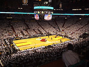 Basketball court - The home court of the Miami Heat of the National Basketball Association