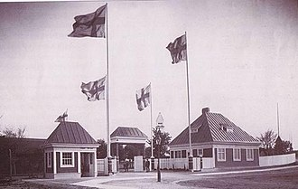 Malmö IP - The old entrance of Malmö IP, as it appeared in the early 20th century