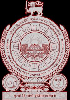 Gampaha Wickramarachchi University of Indigenous Medicine University in Sri Lanka