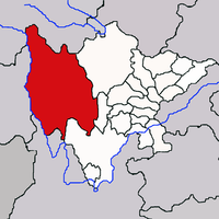 Location of Garzê Tibetan Autonomous Prefecture in the Tibet Autonomous Region