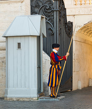 Garde Suisse guérite, Cité du Vatican