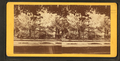Garden behind the iron fence, from Robert N. Dennis collection of stereoscopic views.png