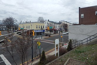Garfield, New Jersey - Passaic Street and Midland Avenue, seen from Garfield station