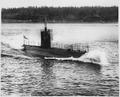 Garfish (SS30), renamed H3. Starboard bow, at launching, 1913 - NARA - 512924.tif