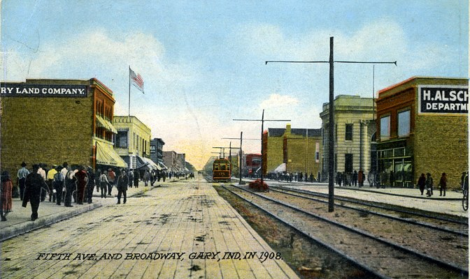 GaryIndiana-FifthAve-Broadway-1909-SS (S Shook CollectionO