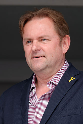 Welcome to Yorkshire - Sir Gary Verity, chief executive of WTY, promoting the Yorkshire leg of the 2014 Tour de France at the 2014 Paris–Roubaix
