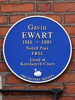 Gavin ewart 1916 1995 (the putney society)