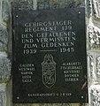 Gedenktafel für die Gefallenen und Vermissten 1939 - 1945 vom GJR 139, Gedächtniskapelle Kötschach-Mauthen, Kärnten.jpg