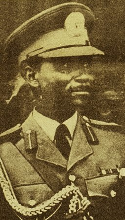 General Yakubu Gowon, from ASC Leiden - Rietveld Collection - Nigeria 1970 - 1973 - 01 - 093 New Nigerian newspaper page 7 January 1970. End of the Nigerian civil war with Biafra (cropped)