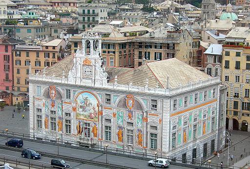 Genova - Palazzo San Giorgio visto dal Bigo