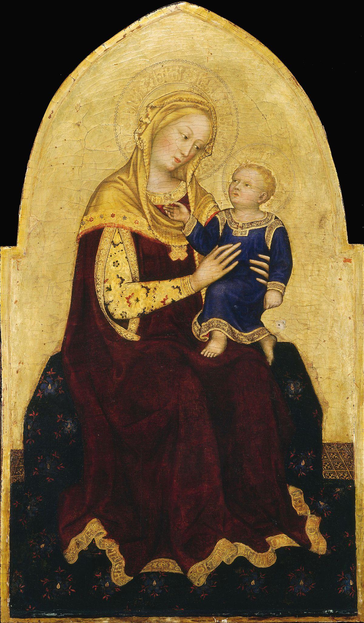 Madonna col Bambino (Gentile da Fabriano Washington ...