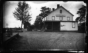 Westbury, New York - George Bradford Brainerd, J. P. Kelsey's Store, Westbury, Long Island, ca. 1872-1887 (Brooklyn Museum)