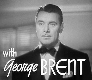 Cropped screenshot of George Brent from the tr...