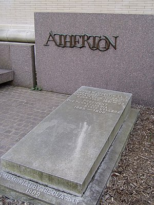 George W. Atherton - Atherton's grave, on the campus of Penn State