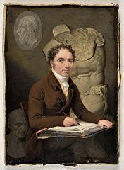 Autoportrait du miniaturiste Georges-Antoine Keman