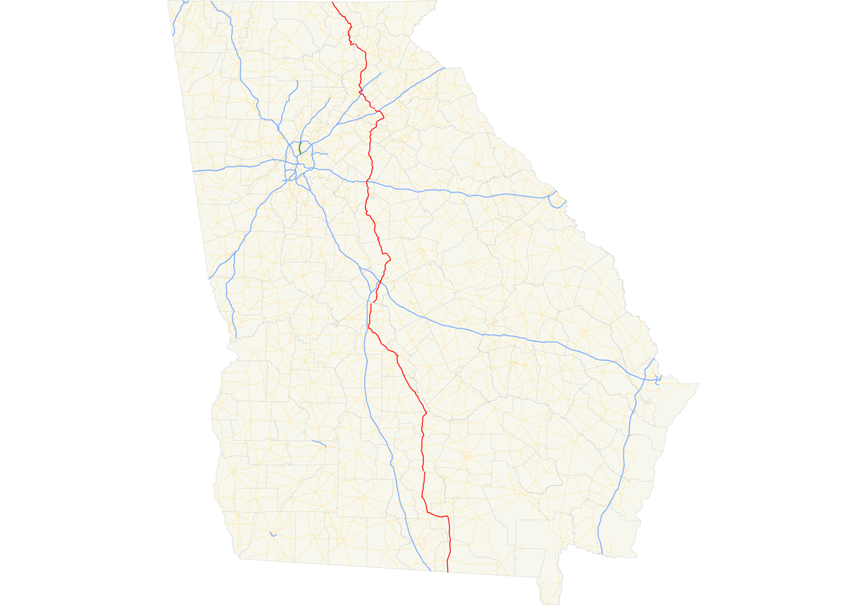 Map Of Georgia Hwy 75.Georgia State Route 11 Wikipedia