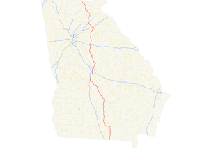 Georgia State Route 11 - Image: Georgia state route 11 map